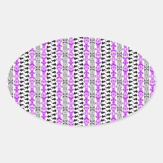 Fleur Custom 1 Purple Oval Sticker