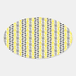 Fleur Custom 1 Yellow Oval Sticker