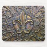 Fleur D' Lis In Bronze Mousepads