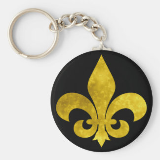 Fleur De Art Gold Rust Key Chain