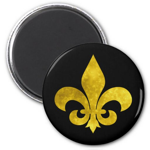 Fleur De Art Gold Rust Refrigerator Magnet
