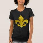 Fleur De Art Gold Rust T-shirts