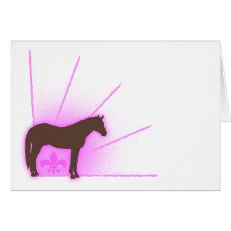 Fleur De Equine Card