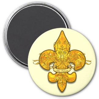 Fleur de Guardian 3 Inch Round Magnet
