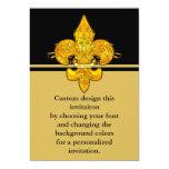 "Fleur de Guardian 5"" X 7"" Invitation Card"