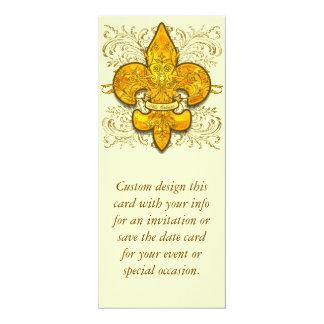 Fleur de Guardian 4x9.25 Paper Invitation Card