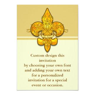 Fleur de Guardian 5x7 Paper Invitation Card