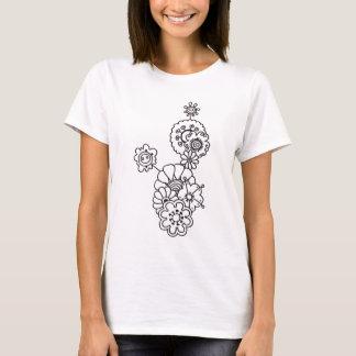 Fleur de Joie (black&white) T-Shirt