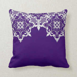 Fleur De Lace Purple Pillow
