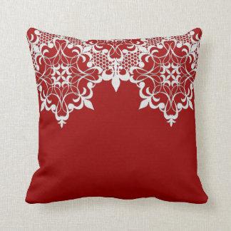 Fleur De Lace Red Pillow