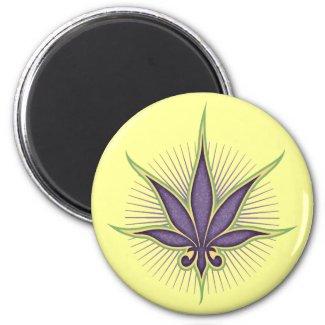 Fleur-de-Leaf Magnet