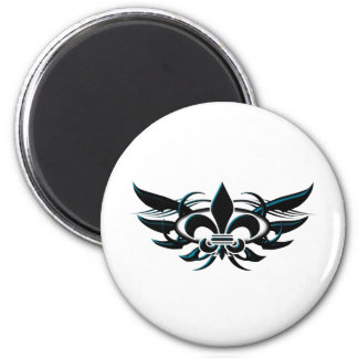 Fleur De Li (wings) Fridge Magnet