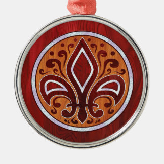 Fleur de Limbs Round Metal Christmas Ornament
