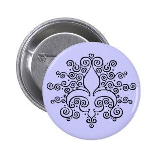 Fleur De Lines 2 Inch Round Button