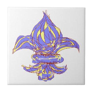 Fleur de lis 13b ceramic tile