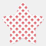 Fleur De Lis 1 Red Star Sticker