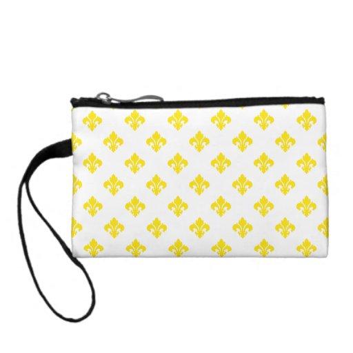 Fleur De Lis 1 Yellow Coin Wallet