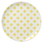 Fleur De Lis 1 Yellow Dinner Plate