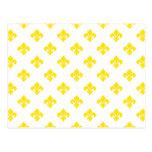 Fleur De Lis 1 Yellow Post Cards