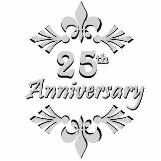 Fleur De Lis 25th Anniversary Ornament Photo Sculpture Button