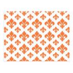 Fleur De Lis 2 Celosia Orange Postcard