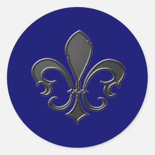 Fleur De Lis 2 Classic Round Sticker Zazzle