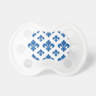 Fleur De Lis 2 Dazzling Blue Pacifier