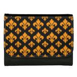 Fleur De Lis 2 Orange Wallet