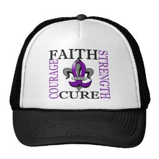 Fleur De Lis 3 Alzheimer's Disease Trucker Hat