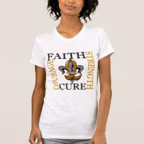 Fleur De Lis 3 Appendix Cancer T-Shirt
