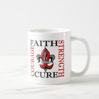Fleur De Lis 3 Blood Cancer Classic White Coffee Mug