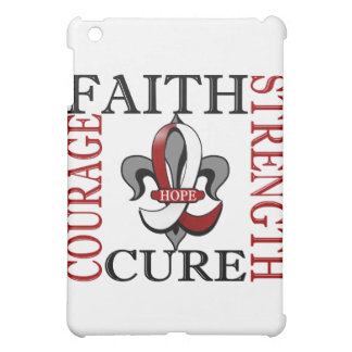Fleur De Lis 3 Head Neck Cancer iPad Mini Cover