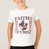 Fleur De Lis 3 Head Neck Cancer T-Shirt