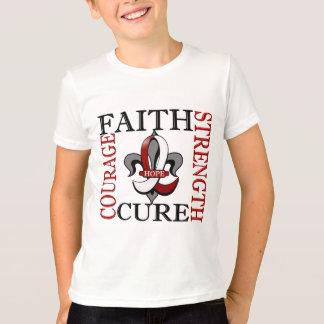 Fleur De Lis 3 Head Neck Cancer T-Shirt