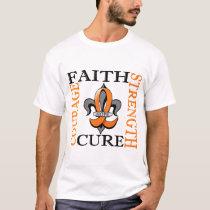 Fleur De Lis 3 Kidney Cancer T-Shirt