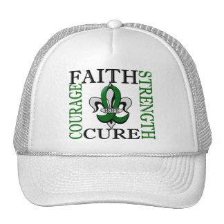 Fleur De Lis 3 Liver Cancer Trucker Hat