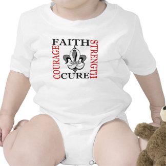 Fleur De Lis 3 Lung Cancer Baby Bodysuits