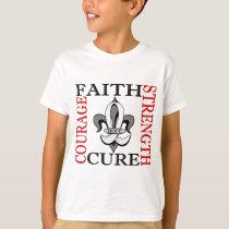 Fleur De Lis 3 Mesothelioma T-Shirt