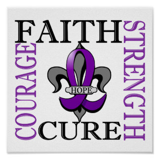 Fleur De Lis 3 Pancreatic Cancer Poster