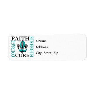 Fleur De Lis 3 PCOS Return Address Label