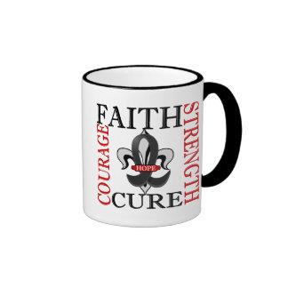Fleur De Lis 3 Skin Cancer Ringer Coffee Mug