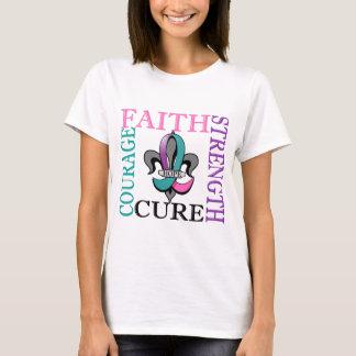 Fleur De Lis 3 Thyroid Cancer T-Shirt