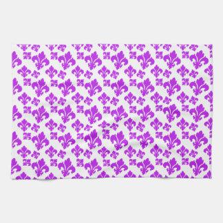 Fleur De Lis 4 Purple Towel