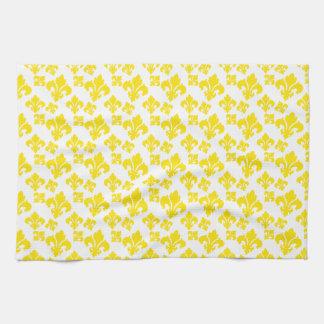 Fleur De Lis 4 Yellow Kitchen Towel