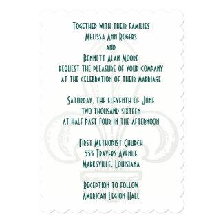 Fleur de Lis 5x7 Wedding Invitation