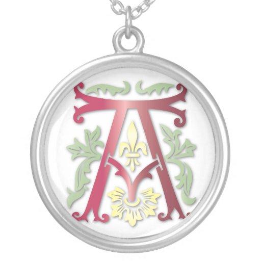 Fleur-de-lis A Monogram Custom Jewelry
