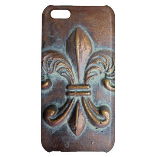 Fleur De Lis, Aged Copper-Look Printed Case For iPhone 5C