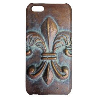 Fleur De Lis, Aged Copper-Look Printed Case For iPhone 5C