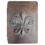 Fleur De Lis, Aged Copper-Look Printed iPad Air Cover