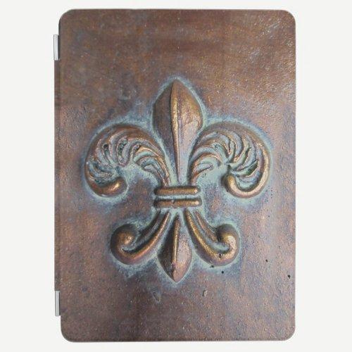 Fleur De Lis, Aged Copper-Look Printed iPad Air Cover
